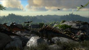 ARK-Survival-Evolved-Mit-Dinos-unterwegs